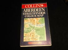 COLLINS ABERDEEN STREETFINDER COLOUR MAP FOLD OUT 1998
